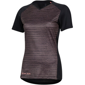 PEARL iZUMi Launch Maillot manches courtes Femme, black/sugar coral vert